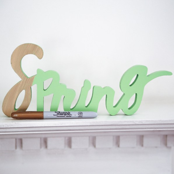 Gold Sharpie Word Cut Out Decoration