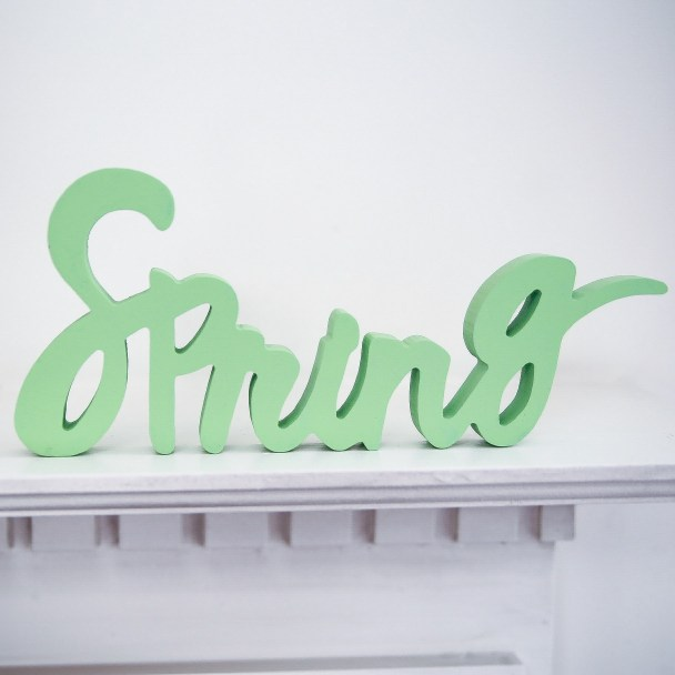 Spring Word Cut Out Decoration