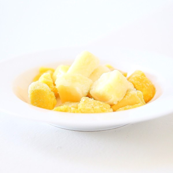 Frozen Mango and Pineapple Ice Cream Swap