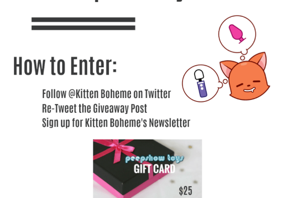 Win a Peepshow Toys Gift Card Kitten Boheme's Share and Follow Giveaway