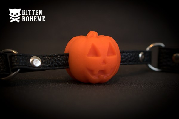 Geeky Sex Toys Halloween Pumpkin Ball Gag Sex Toy Review by KittenBoheme.com