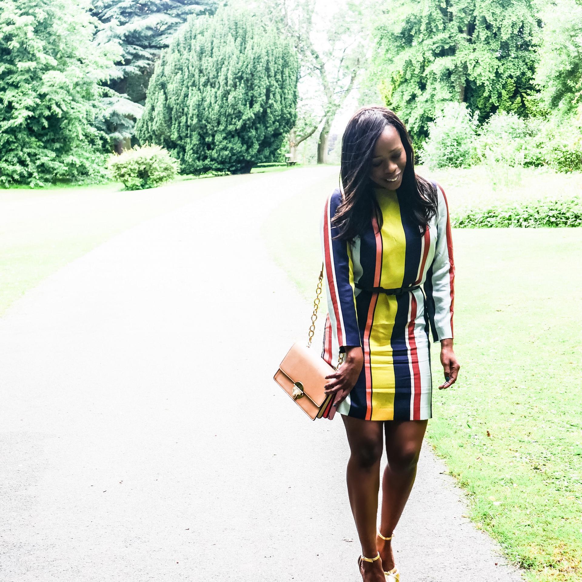 Summer Wedding Guest Dress - Boden Azalea Stripe Tunic Dress Kitty and B