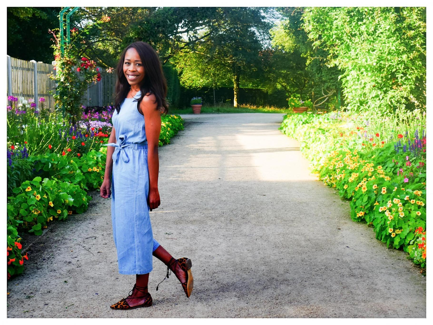 M&S Kids Pinafore Jumpsuit at the Monet Gardens |Trend Watch
