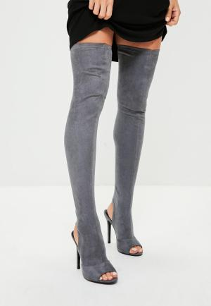 Grey Over Knee Boots