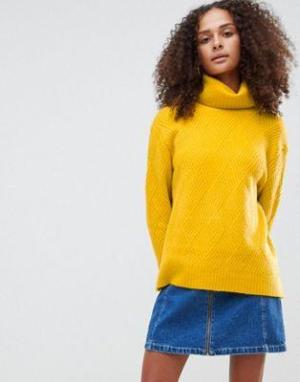 Yellow Polo Neck Jumper