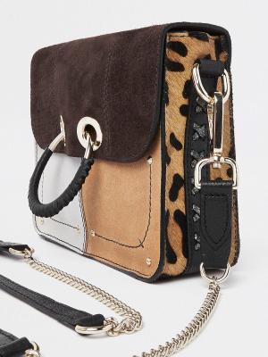 Leather Multi Print Bag