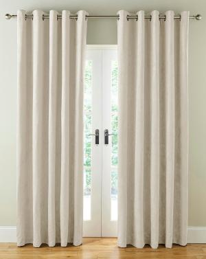 Faux Suede Blackout Curtains
