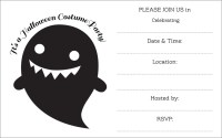 free halloween printable invitations in black and white