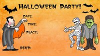 free printable scary halloween invitation templates