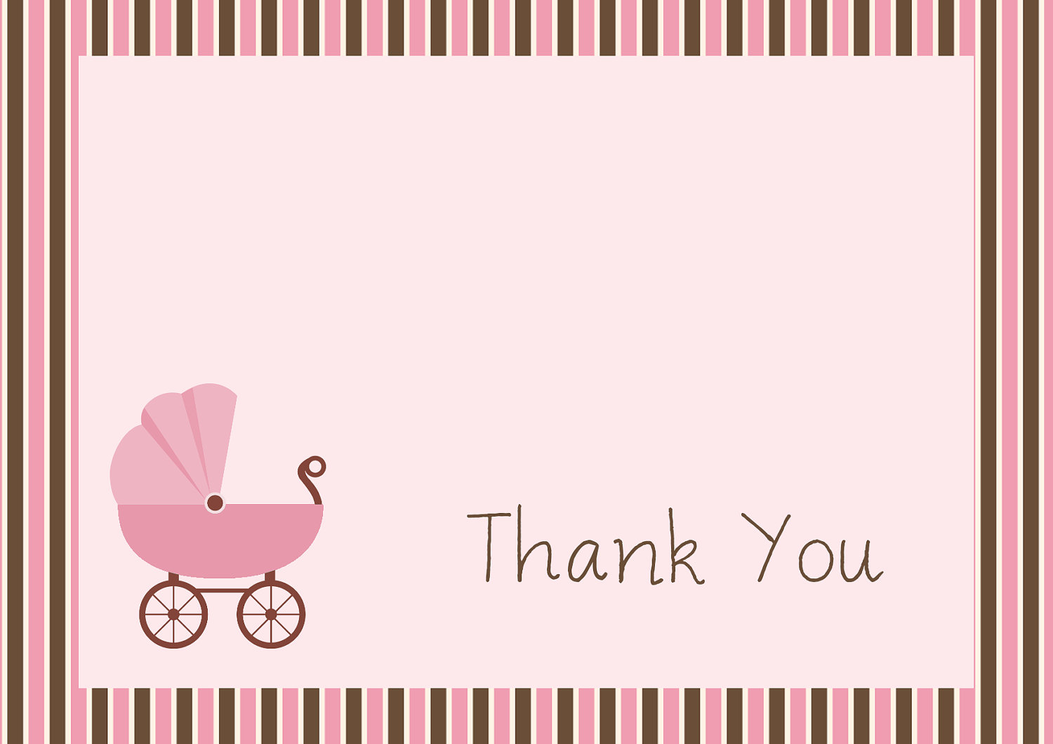 Free Printable Baby Shower Thank You Cardskitty Baby Love