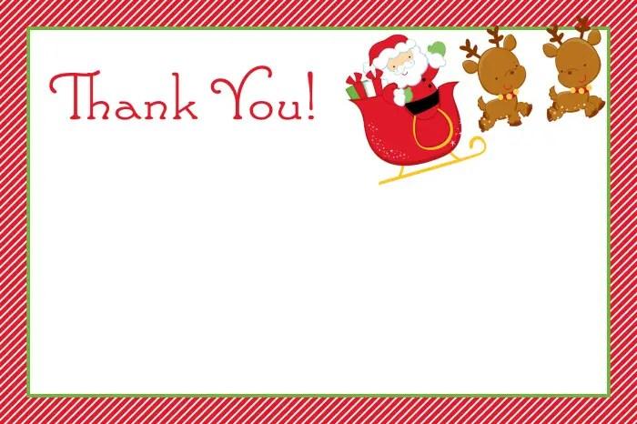 Printable Christmas Thank You CardsKitty Baby Love