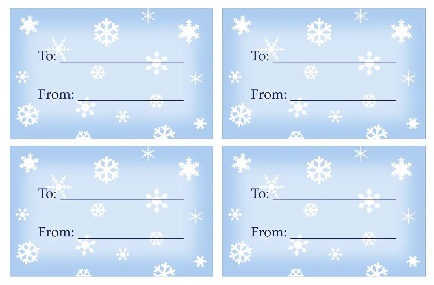 40 Unique Printable Christmas T Tags