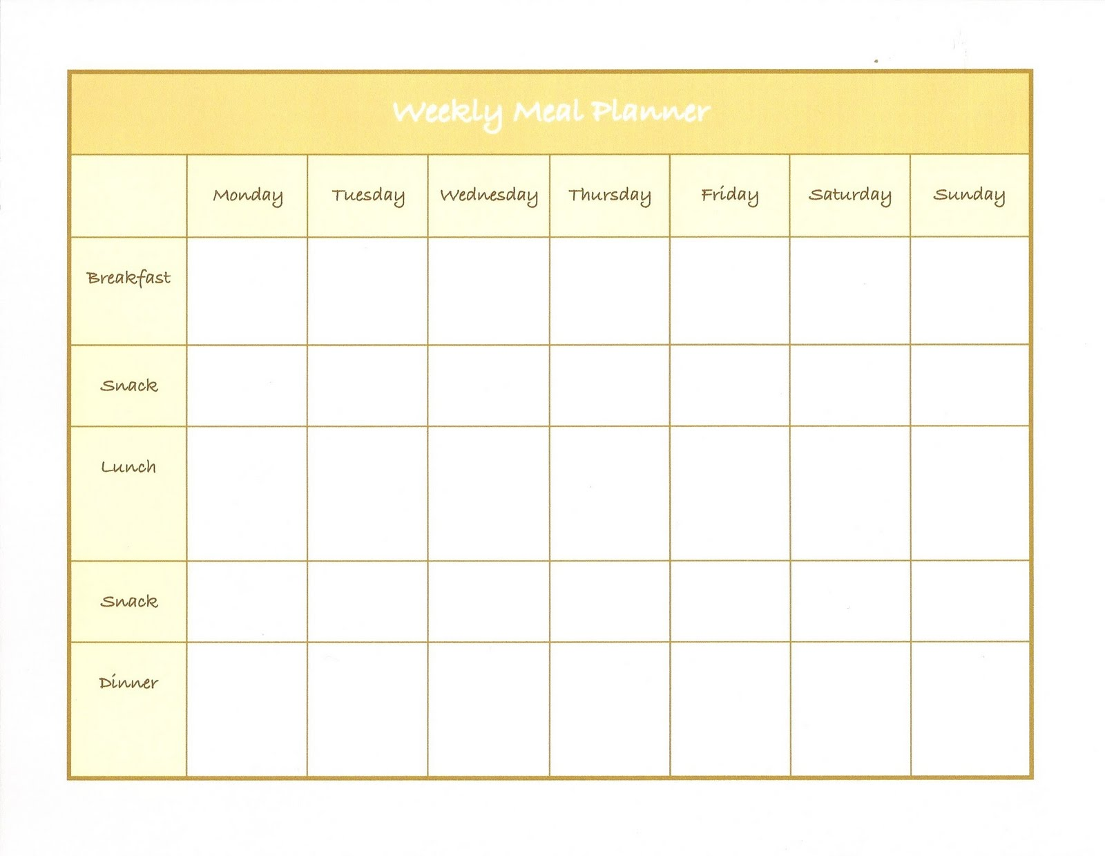 45 Printable Weekly Meal Planner Templates