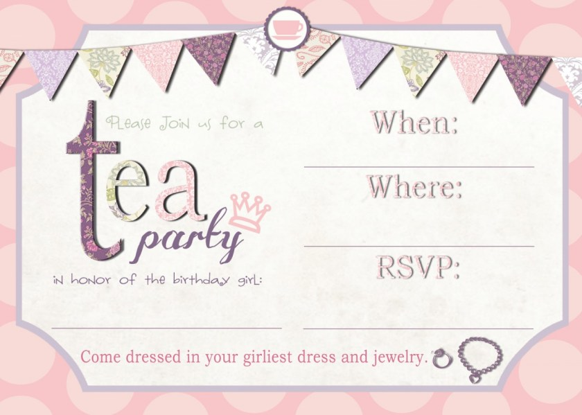 Colorful Mad Hatter Tea Party Invitations