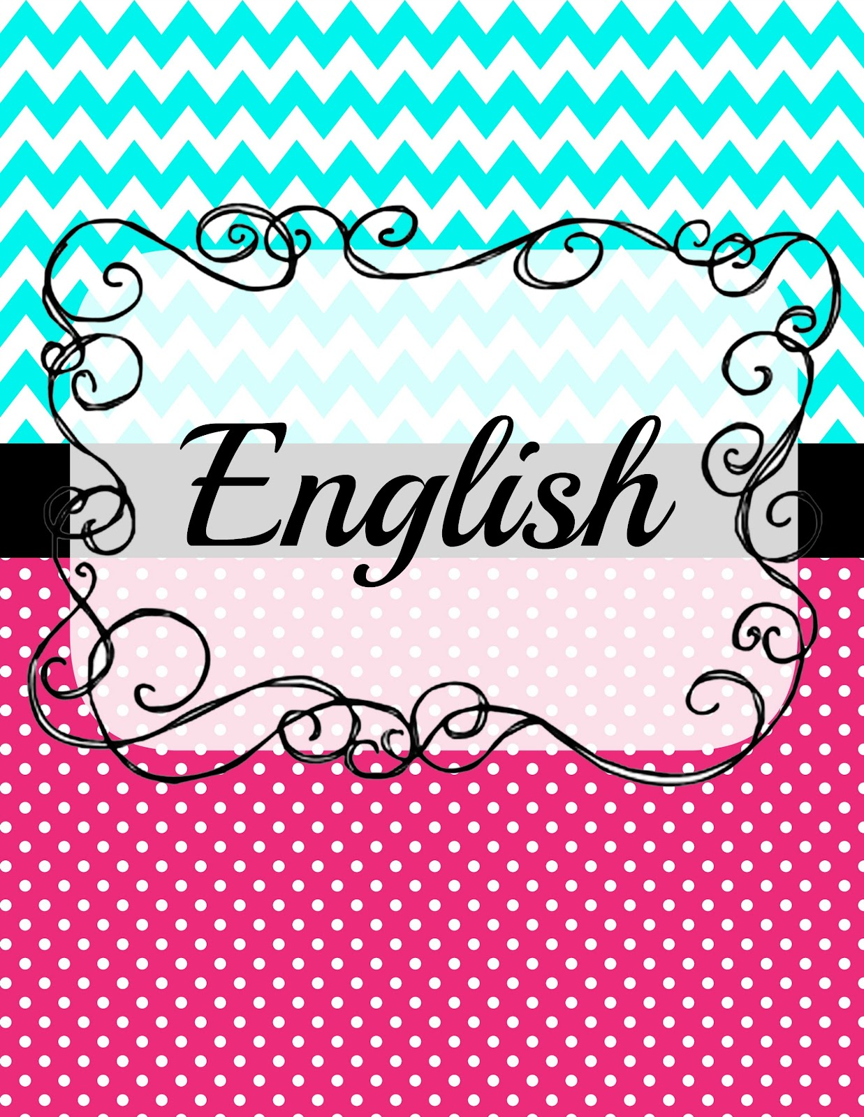 5 Pristine English Binder Cover