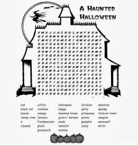 happy halloween word search answers