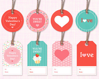 6 Lovely Printable Valentine Gift Tags Kitty Baby Love
