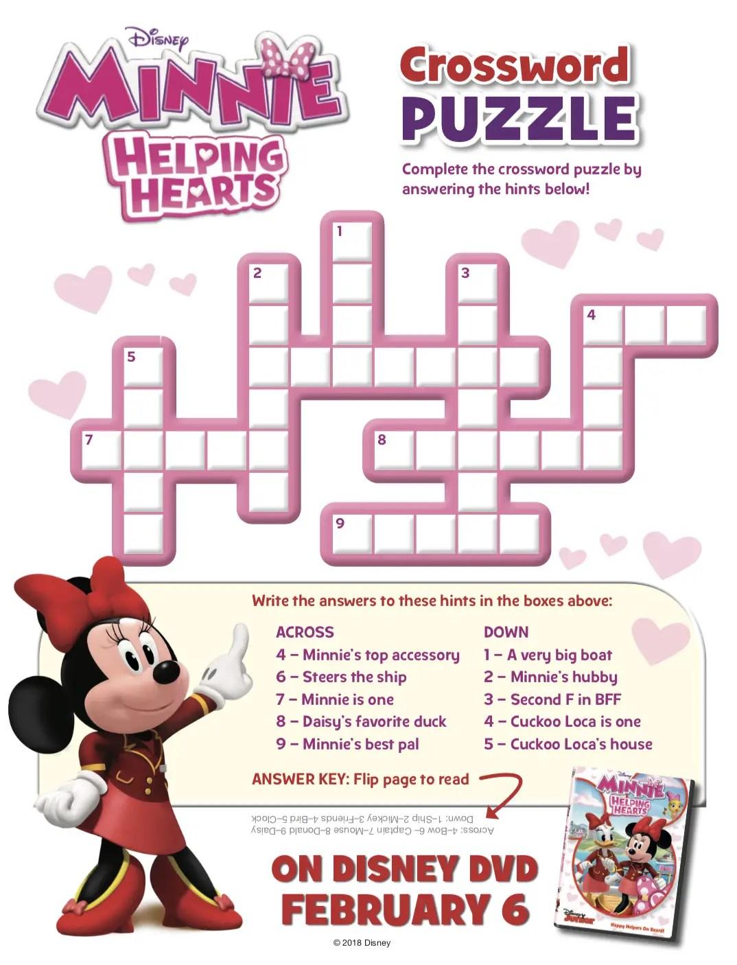 11 Fun Disney Crossword Puzzles