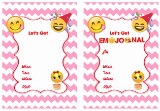 9 Cute Emoji Birthday Invitations Kittybabylove Com