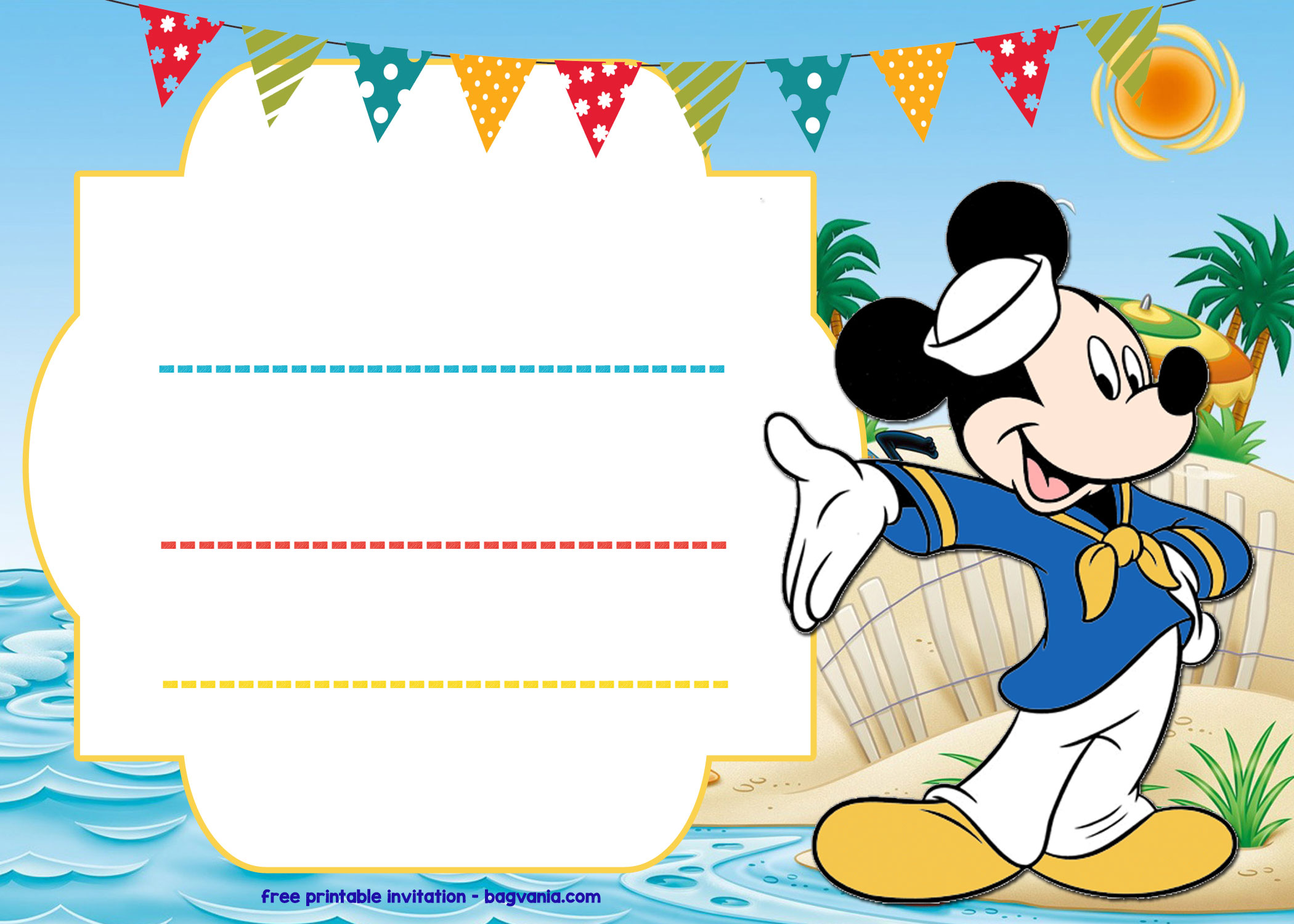 Mickey Mouse Printable Worksheet