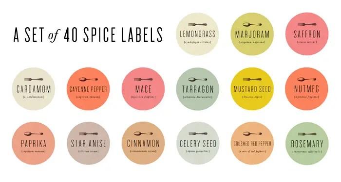 antique spice labels templates