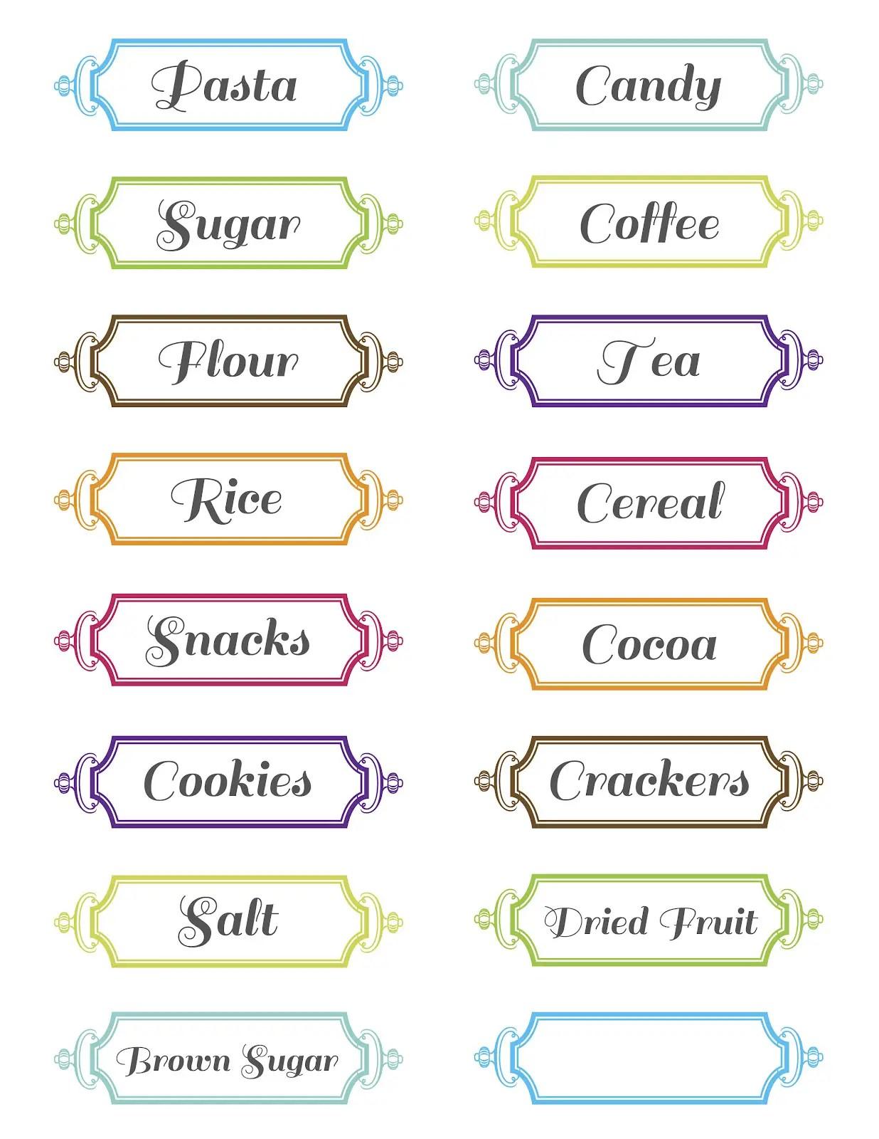 30 Pretty Kitchen Or Pantry Labels