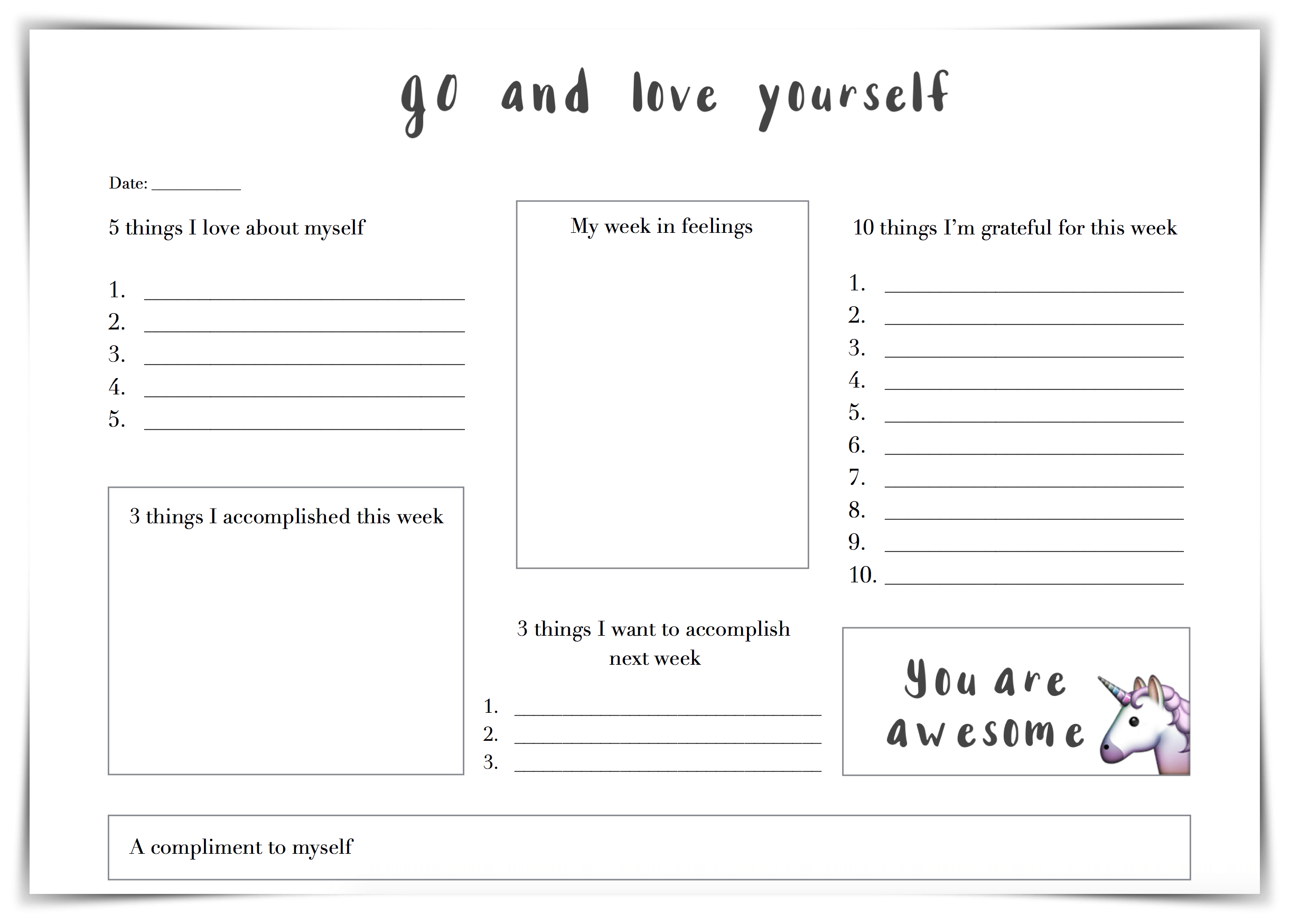 30 Self Esteem Worksheets To Print