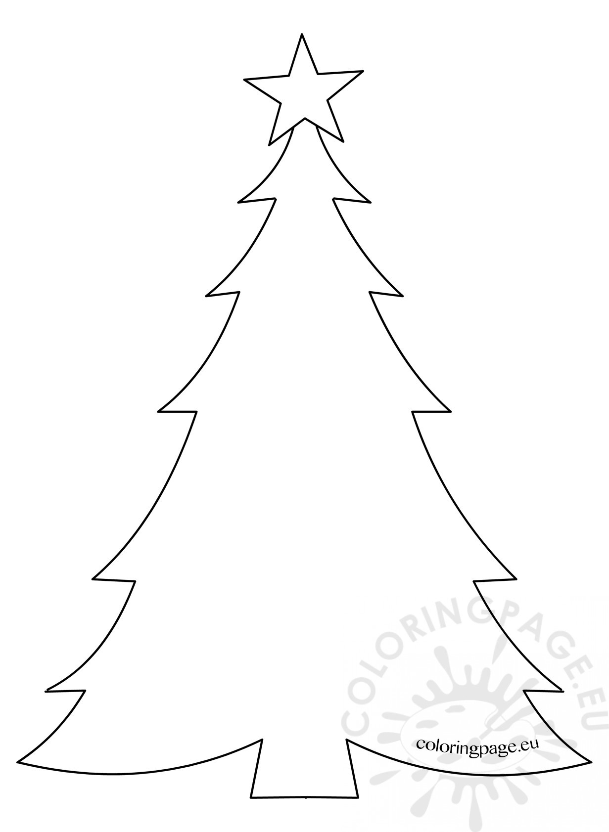 50 Christmas Tree Printable Templates