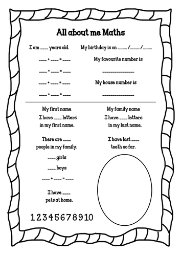 33 Pedagogic All About Me Worksheets