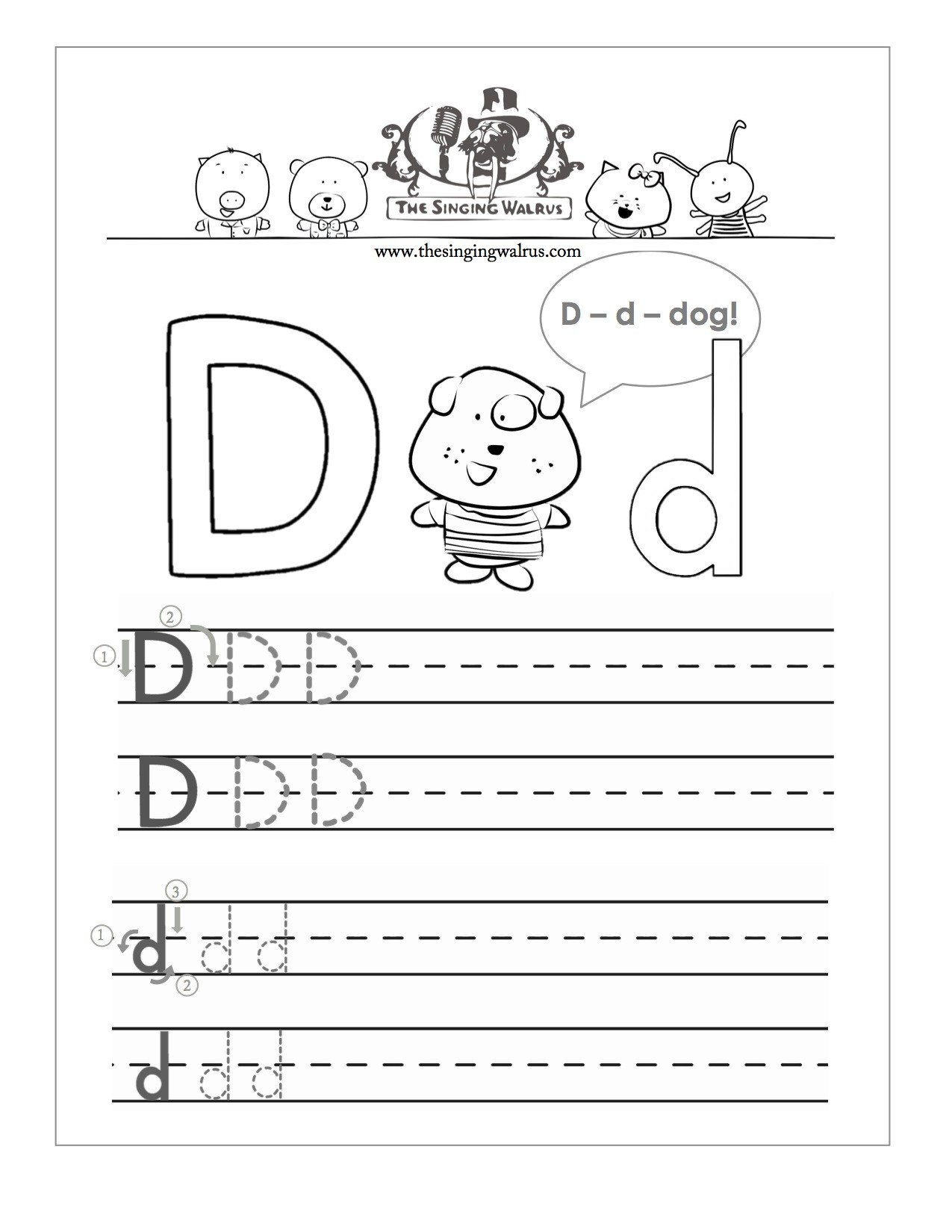 26 Learner Friendly Letter D Worksheets