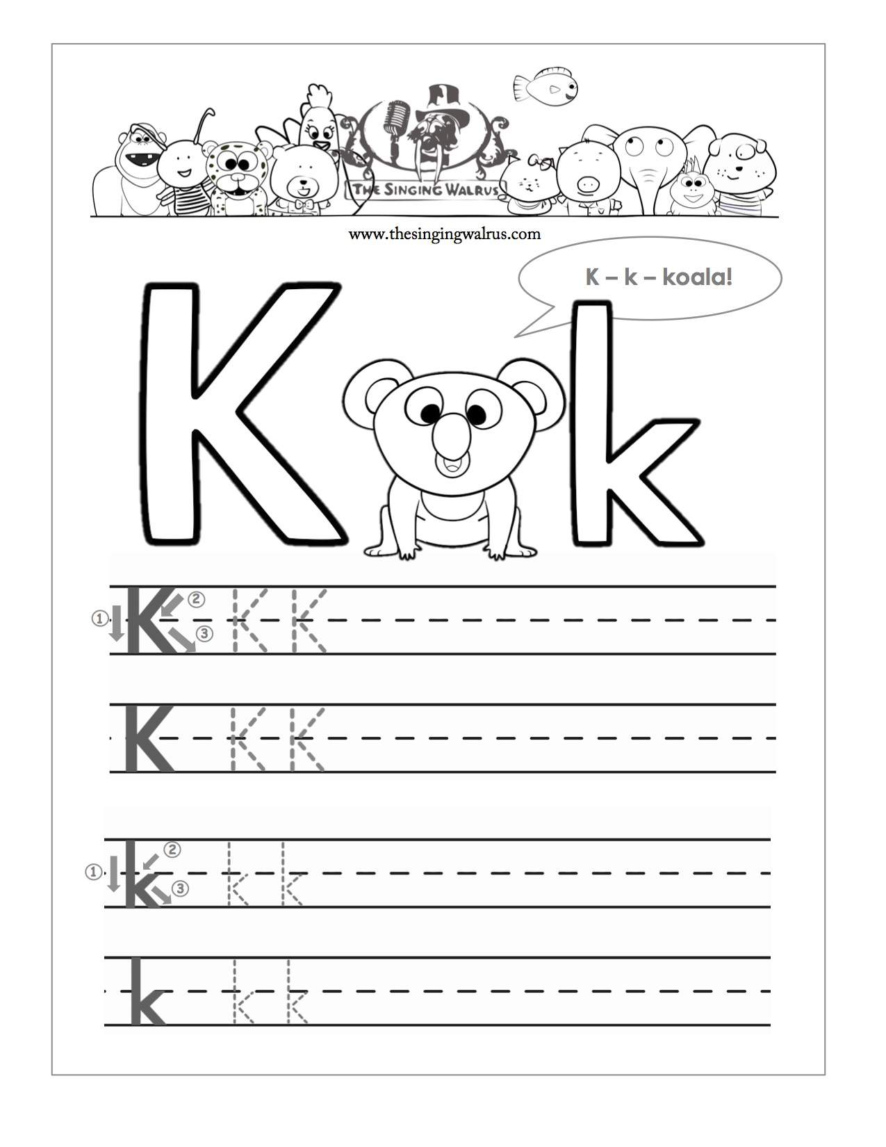 15 Learning The Letter K Worksheets