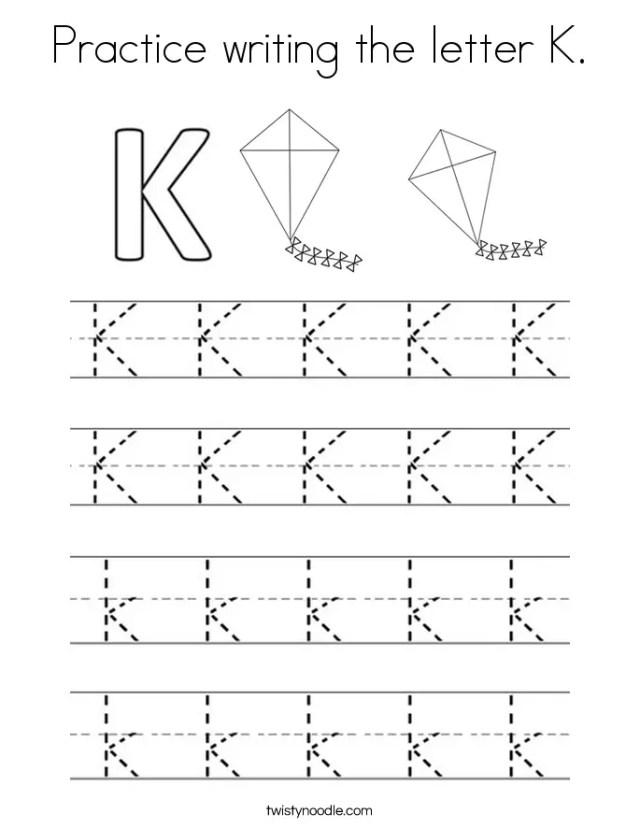 15 Learning The Letter K Worksheets
