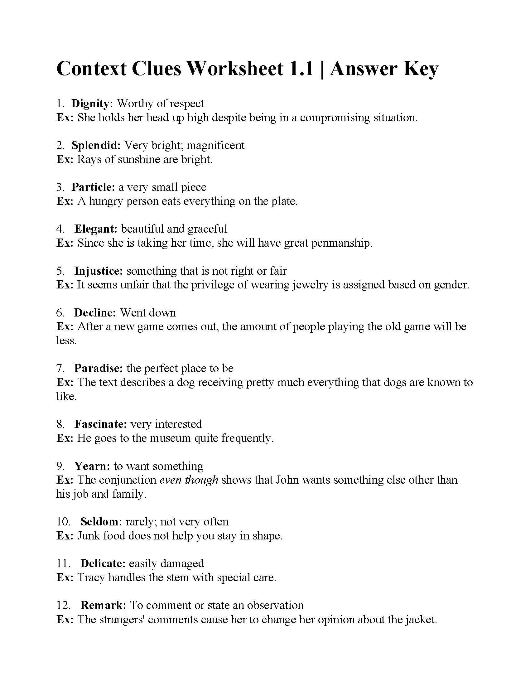 38 Interesting Context Clues Worksheets
