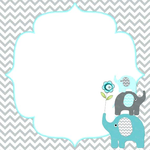 13 Elephant Baby Showers Invitations For Boys