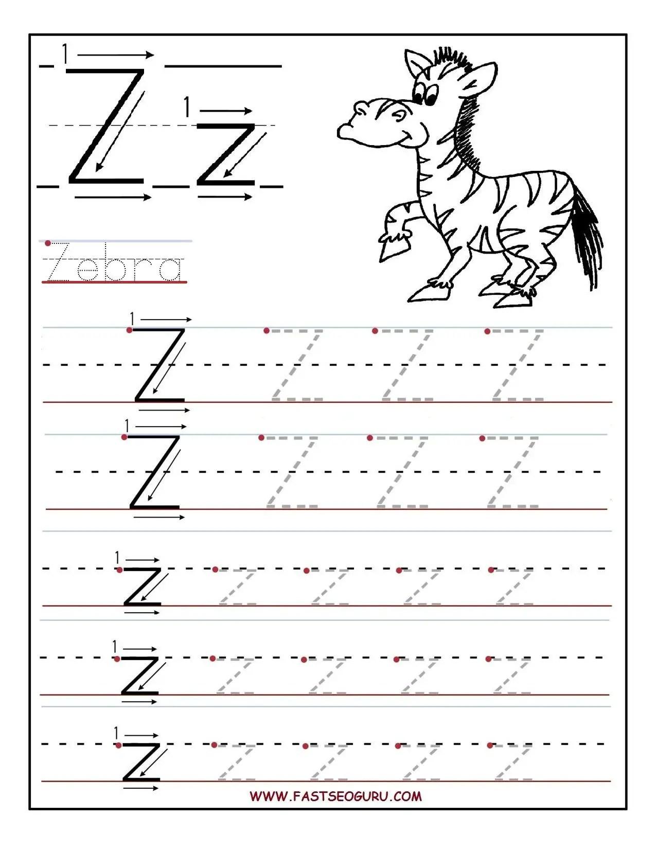 10 Enjoyable Letter Z Worksheets