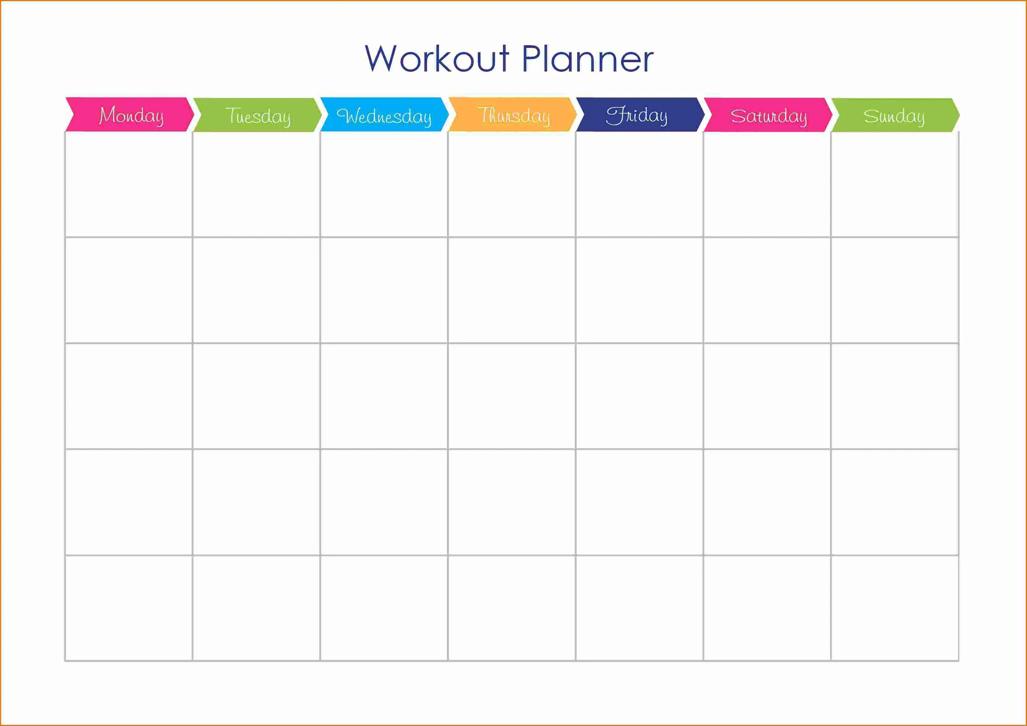 19 Utilitarian Workout Calendar Templates