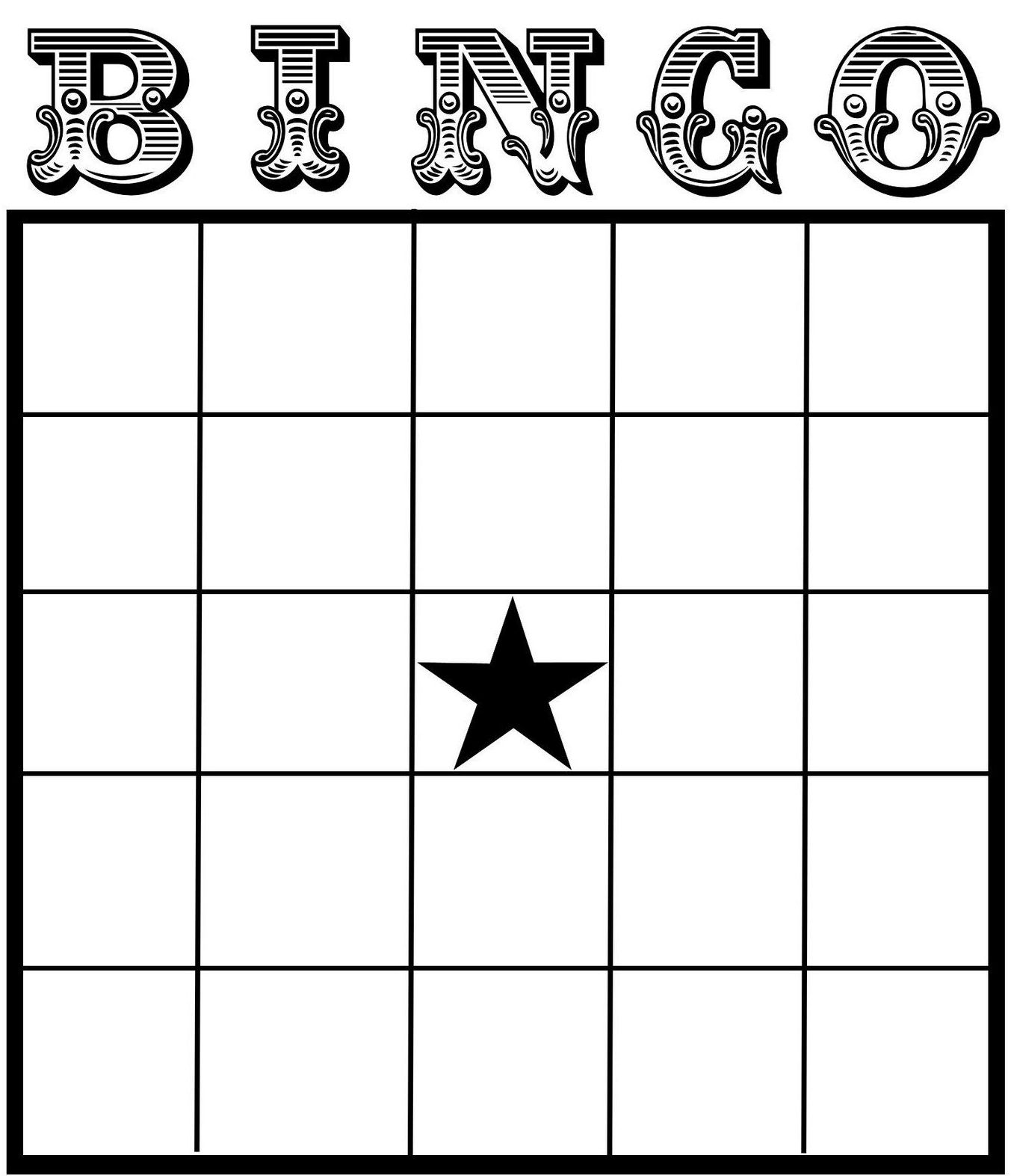 25 Amusing Blank Bingo Cards For All