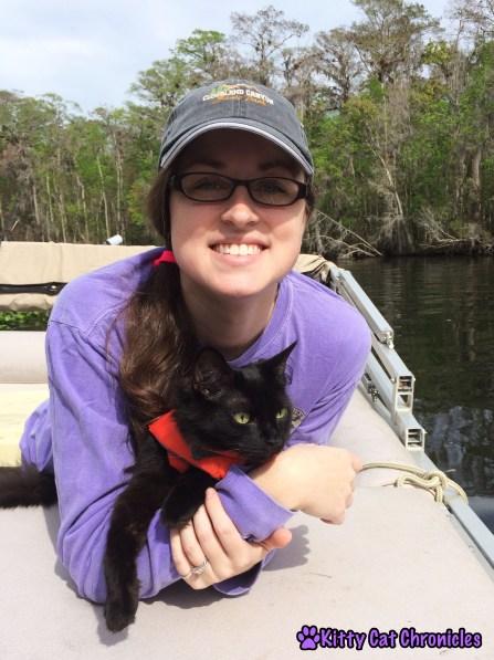 Wordless Wednesday: Welaka, Kylo & Me on the boat