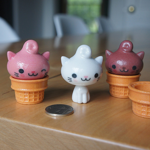3-D Printed Kitty Cones