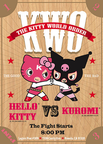 On April 5, 2008, the cheerful Hello Kitty® and mischievous Kuromi® will