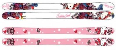 Hello Kitty skis
