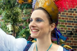"""Kitty Martin as Iris from """"The Tempest"""" in October Plenty performed at Shakespeare's Globe for the Lions part"""
