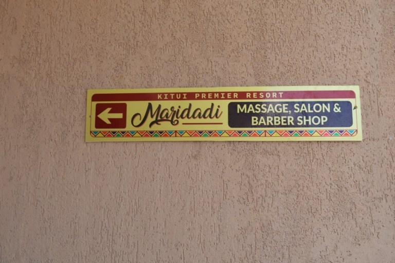 Kitui Premier Resort Massage, Salon & Barber Shop Sign