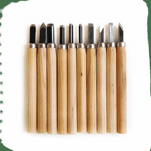 sgorbie per la lavorazione della legna secca nei bonsai