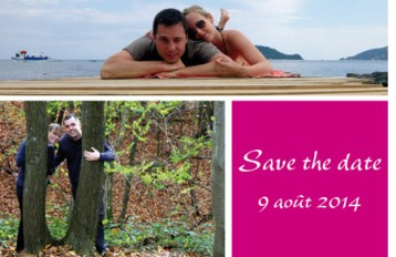Save the Date Carte R°V°