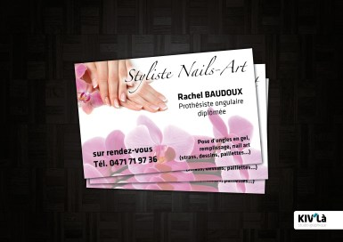 Carte de Visite pour Styliste Nails-Art