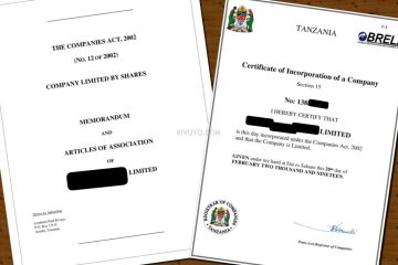 Uandishi wa MemArt- Memorandum and Articles of Association