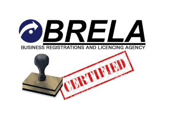 Brela Company Registration Certification