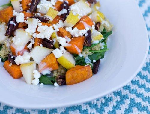Quinoa sweet potato salad-Kiwi and Carrot