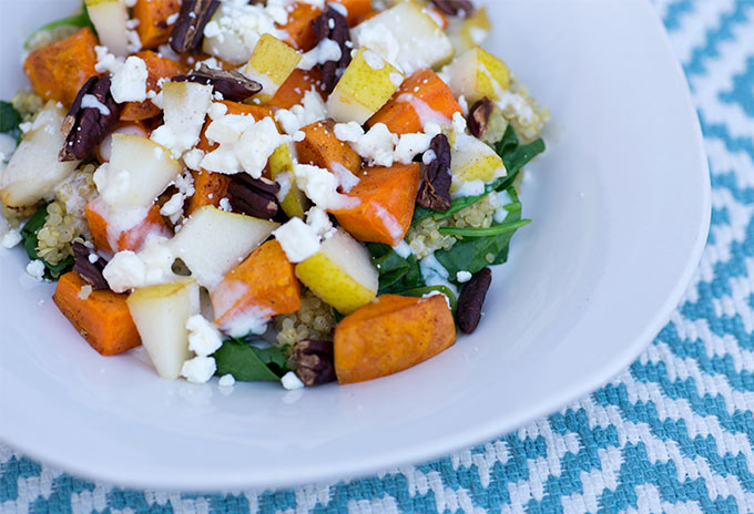 Quinoa sweet potato salad-Kiwi and Carrot
